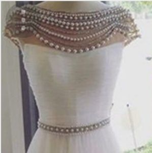 Dresses & Skirts - Beading O-Neck Gown